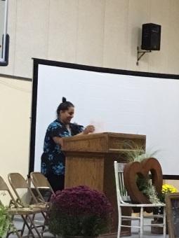 """Community Chest staff member Farah Rashdan reads her poem """"The Desert People"""""""